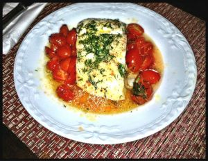 Halibut Cherry Tomatoes