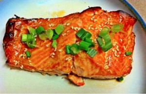 Sesame Ginger Glazed Salmon