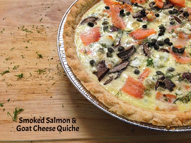 Smoked Salmon Goat Cheese Quiche