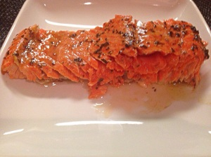 Salmon with Lavender and Basil