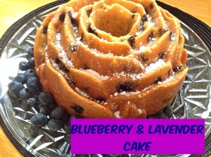 Blueberry Lavender Bundt Cake