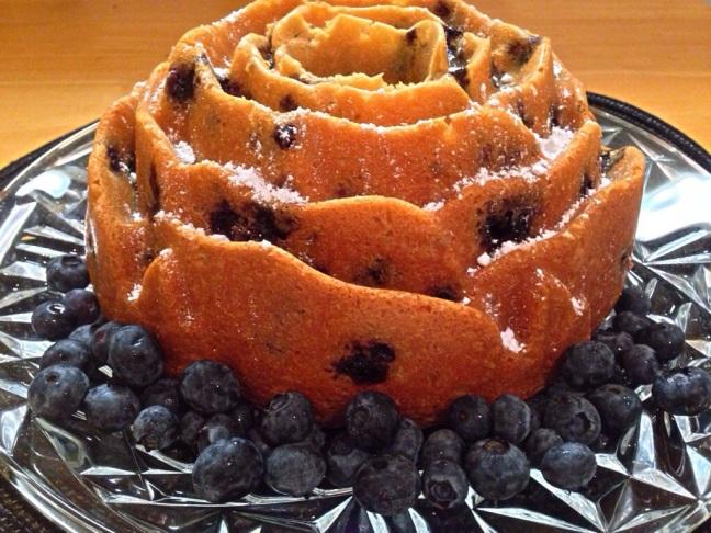 blueberry and lavender bundt