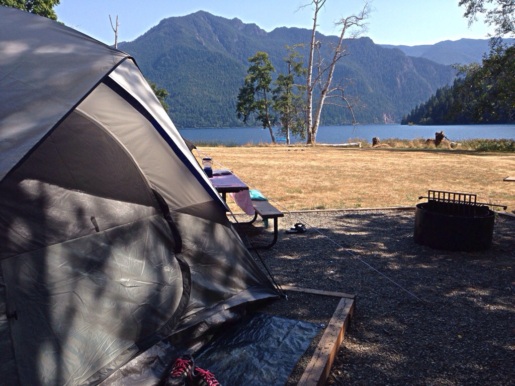 Our campsite along the lake
