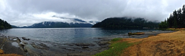 Fog over Lake Crescent