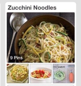 Zucchini Noodle Pinterest Page