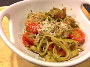 Pesto Pasta with Chicken Tomato
