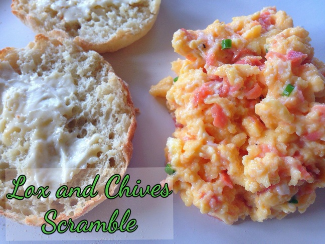 Lox and Chives Scramble