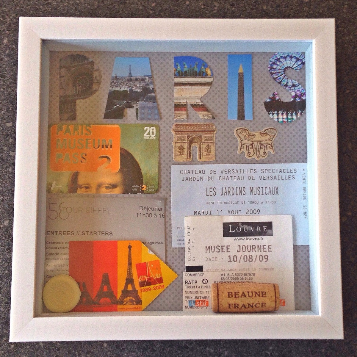 Making Travel Shadowboxes