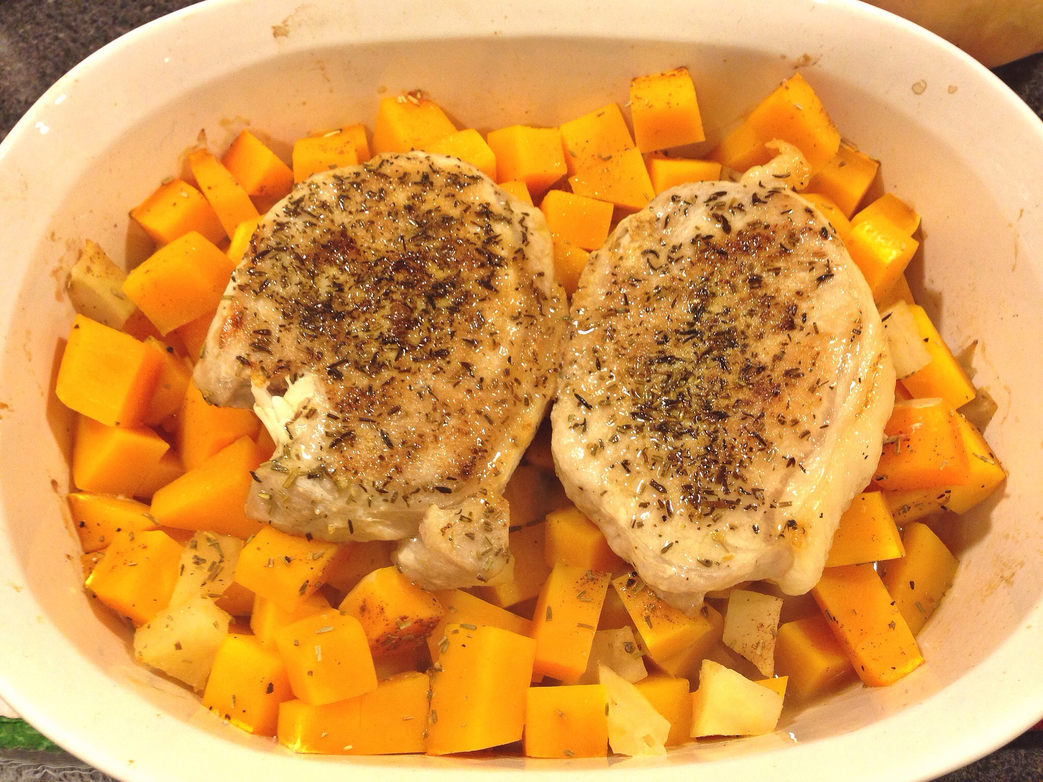 pork chops with butternut squash and apple stuffing recipes pork chops ...
