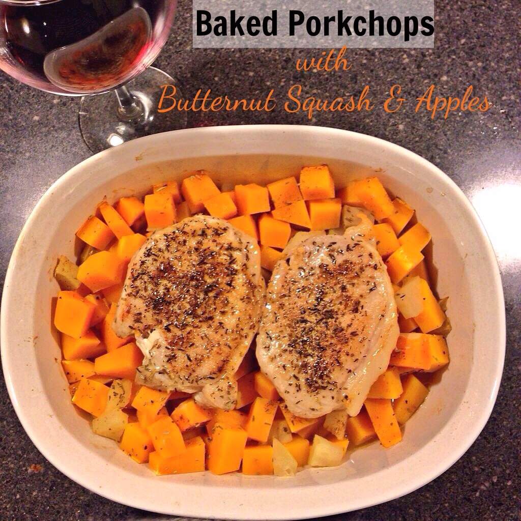 Pork Chops With Butternut Squash And Apple Stuffing Recipe ...