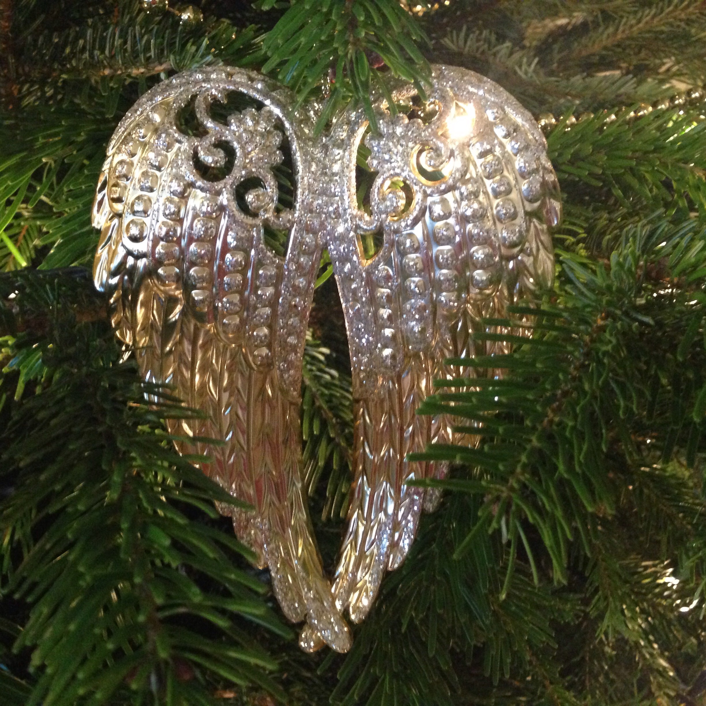 Oversized Gold Wings Ornament, Pier 1